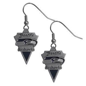 NFL Seattle Seahawks Pendant Earrings
