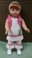 "Red Head Gotz Puppe German Made Doll like American Girl with Outfit 18"" Tall"