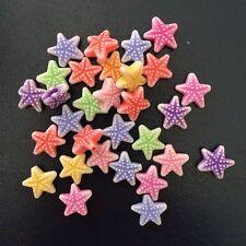 DIY 50PCS 12mm mix acrylic starfish stone bead rainbow Children handmade beaded