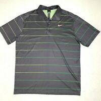 Tiger Woods Golf Polo Shirt Men's Size Large Nike Dri Fit Athletic Sport Casual