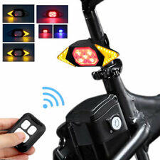 Wireless Bicycle LED Turn Signal Rear Taillight USB Remote Control Lamp 4-Modes