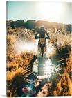 ARTCANVAS Dirt Bike Motocross Sun Glare Canvas Art Print