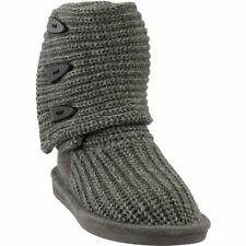 Bearpaw 10 M Knit Tall Boots Fashion Winter Shoes Gray Women's