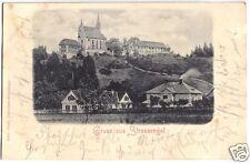 AK, Judendorf - Straßengel, Teilansicht mit Wallfahrtskirche, 1899