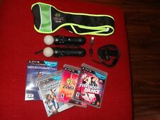 Sony PlayStation Move BUNDLE - 2 controllers and 3 games
