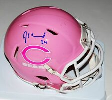 JORDAN HOWARD signed *CHICAGO BEARS* Pink Cancer mini football helmet W/COA