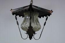alte  Deckenlampe Lampe 60er Schmiedeeisen / Kupfer  rustikal