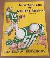 1966 AFL OAKLAND RAIDERS @ NEW YORK JETS FOOTBALL PROGRAM @ SHEA STADIUM