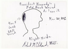 Signed Drawing of President Kennedy's Fatal Head Wound