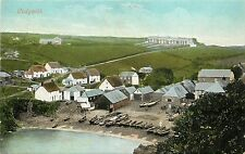 Vintage Postcard bird's eye view Cadgwith Cornwall, England Uk