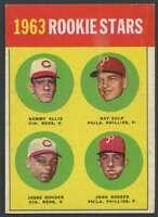 1963 Topps #29 Sammy Ellis/Ray Culp,/Jesse Gonder/John Boozer EXMT/EXMT+ RC Rook