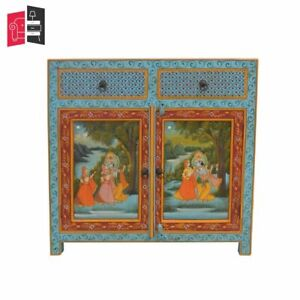 Krishna Hand Painted Wooden Sideboard (MADE TO ORDER)