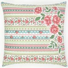 Cool Pink Red And Green Rose Flower And Lace Cushion Cover  Cushion, Pillow, Thr