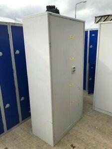 Retro Metal Roneo Vickers Cabinet Cupboard Locker Garage Storage Shelves