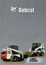 Prospekt D Bobcat Lader 2000 10/01 Baumaschinenprospekt 2001 753 773 863 963 T20