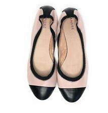 Ballet flat ANDRE Pink With Black Cap Toe 41