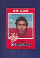 John Helton 1971 O-PEE-CHEE CFL Football #125 (NM) Calgery Stampeders