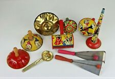 Vintage Bag of Tin Lithograph Party Noisemaker Favors Various Styles Themes