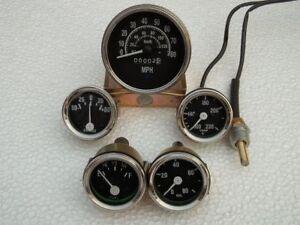 Willys Jeep MB GPW CJ - Speedometer MPH/KPH Temp Oil Fuel Amp Gauge Gauges Kit