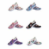 Womens Nurse Sport shoes Slip On Sneaker Breathable Shoes Walking Mesh Sneakers