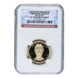 2010-S Abraham Lincoln Presidential Dollar NGC PF70 Ultra Cameo