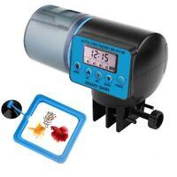 LCD Digital Automatic Aquarium Fish Food Feeder Tank Feeding Auto 360 Rotation