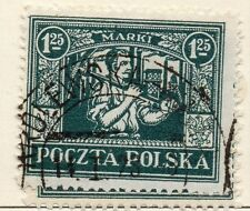 La Polonia 1922/23 precoce questione BELLE usato 1,25 M. 042831