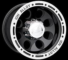"CPP ION Alloys style 174 Wheels Rims 18x9, 5x5"", black with beadlock look"