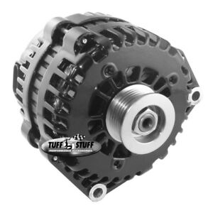 Tuff Stuff Alternator 8237B; AD230, AD244 230 Amp Black 1-Wire w/ 6G Pulley