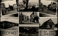 Vlotho an der Weser Mehrbildkarte ~1950/60 Lange Straße Amthausberg Weserbrücke