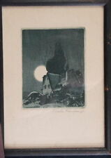 F.Leslie Thompson Original Aquatint - 1925, Hand SIGNED