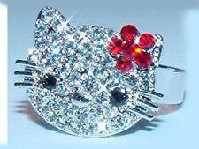 Hello Kitty schöner STRASS - RING  +++ MEHR IM SHOP !!!