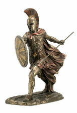 11.5 Inch Achilles w/ Spear & Shield Statue Sculpture Figurine Troy Greek Decor