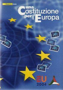 Folder francobolli Italia Una Costituzione per l' Europa Emissione 29.10.2004