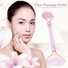Rose Quartz Healing Stone Dual-head Face Neck  Fat Remover  Massage Roller