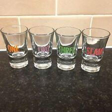 Four One Two Three SLAM Shot Glasses Christmas