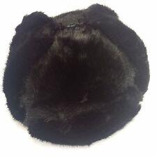 Bomber Trapper Men's Russian Winter Faux Mink Fur Pilot Aviator Ear Flaps Hat