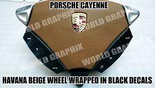 Porsche Cayenne Steering Wheel Matte Black Button Repair Decals Stickers