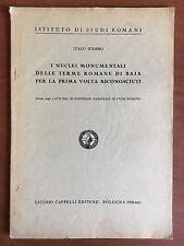 Brossura I nuclei monumentali dell Terme Romane di Baia Riconosciuti 1934 E22320