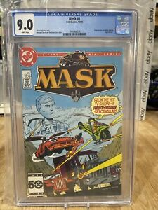 cgc 9.0 mask 1 dc comics 12/85 white pages