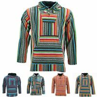 Hoodie Jumper Baja Jerga Drug Rug LoudElephant Hoody Hooded Rainbow Jacket