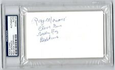 RAY MONACO PSA/DNA AUTOGRAPH 3X5 INDEX CARD AUTO CLEVELAND RAMS REDSKINS PACKERS