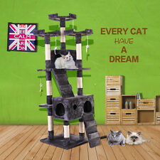"New 67"" Cat Tree Tower Condo Furniture Scratching Post Pet Kitty Play House Gray"
