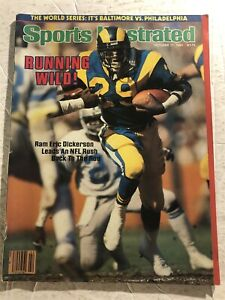 1983 Sports Illustrated LOS ANGELES Rams ERIC DICKERSON No Label RUNNING WILD