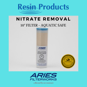 """Nitrate Removal Filter - Aquatic Safe - 10"""" Cartridge - Aries Filterworks"""
