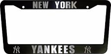 2 (PAIR) New York Yankees Black Plastic License Plate Frame Truck Car Van