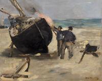 Tarring the Boat by Édouard Manet 60cm x 48cm Art Paper Print