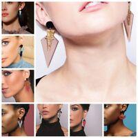 1 Pair Women Lady Hook Stud Ear Drop Dangle Acrylic Alloy Earrings Jewelry