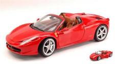 Ferrari 458 Italia Spider 2009 Red Foundation 1:18 Mattel HWX5527
