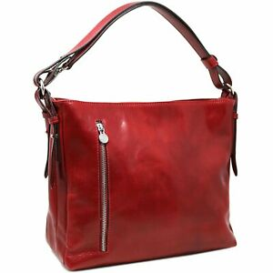 Floto Orvieto Italian Leather Handbag Purse Shoulder Bag (N1142EMC)